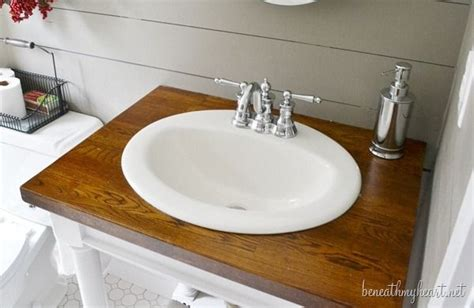butcher block countertops bathroom diy butcher block vanity