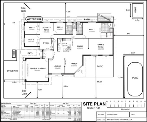 how to draw a site plan for a building permit challenge 1 on your block