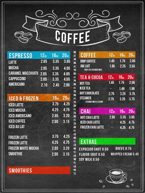 design menu coffee design menu boards for coffee shop freelancer