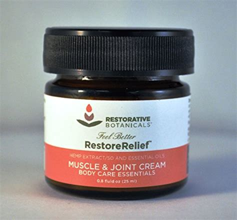 Peek Me And Joint Relief 25ml restorative botanicals 50 mg hemp joint relief 25ml restore relief