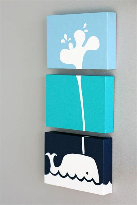 bilder kinderzimmer wal whale painting series of 3 for a baby nursery room