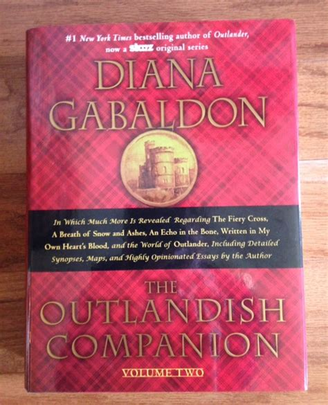 the outlandish companion volume two the companion to the fiery cross a breath of snow and ashes an echo in the bone and written in my own s blood outlander loving diana gabaldon lawry
