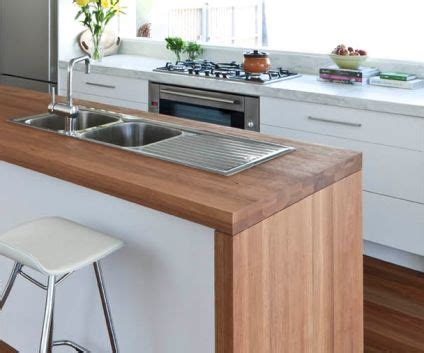 kitchen wooden bench white kitchen timber benchtop kitchen pinterest