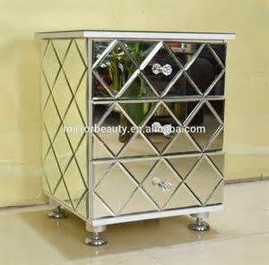 Mirrored Glass Nightstand New Style Mirrored Nightstand Table With Shaped Glass Buy Mirrored Nightstand Table