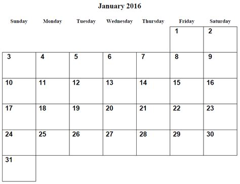 printable monthly calendar january 2016 related keywords suggestions for january 2016 calendar