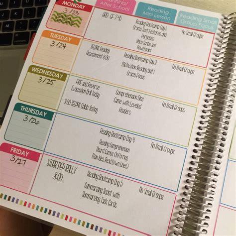 teacher diary template digital planner editable lesson plan template by