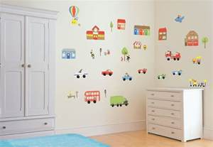 childrens wall stickers amp decals interior decorating home details about transport vehicles cars