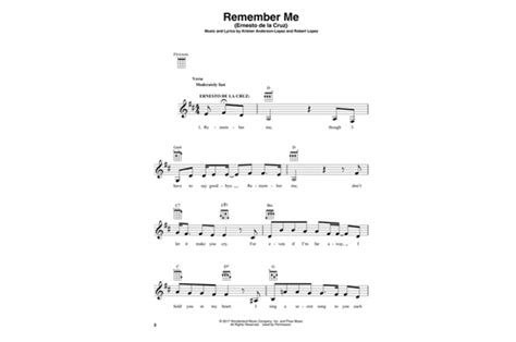 coco remember me chord disney pixar s coco ukulele heid music