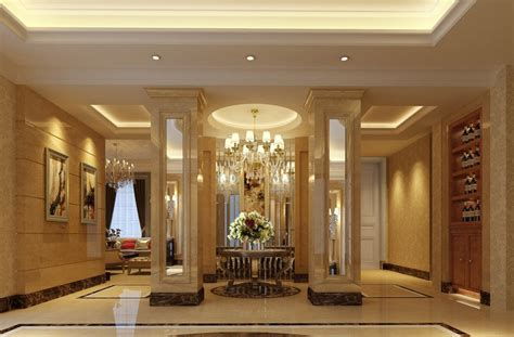 Entrance Decor Ideas Luxury Villa Entrance Ideas 3d House