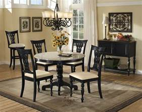 Black Round Dining Room Table by Black Round Dining Table Parsons Dining Chairs Dining