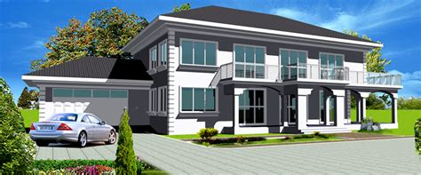 4 Bedroom 3 5 Bath House Plans by Ghana House Plans Nhyira House Plan