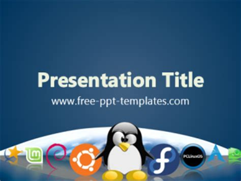 Ppt Templates For Linux | linux ppt template free powerpoint templates