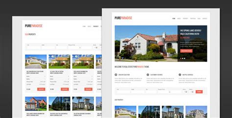 pure paradise clean real estate html template themeforest