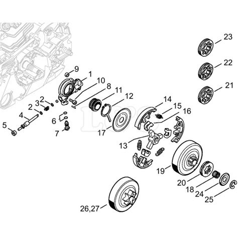 stihl 020t parts diagram clutch assembly for stihl ms261 l s engineers