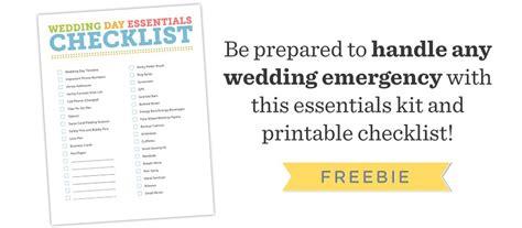 wedding day emergency kit checklist groom free wedding photography essentials checklist