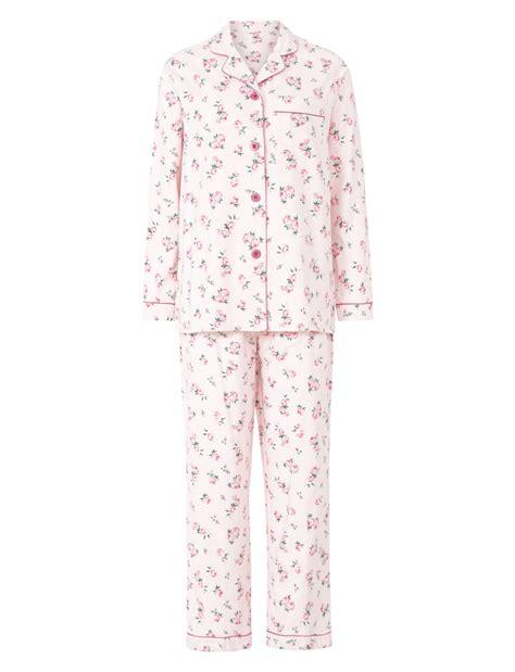 Pajamas Flower by Pyjamas Slenderella 100 Brushed Cotton Pjs Set