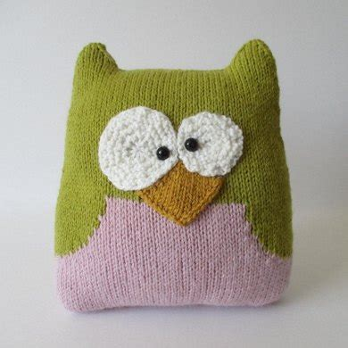 knitted owl cushion owl cushion knitting pattern by amanda berry knitting