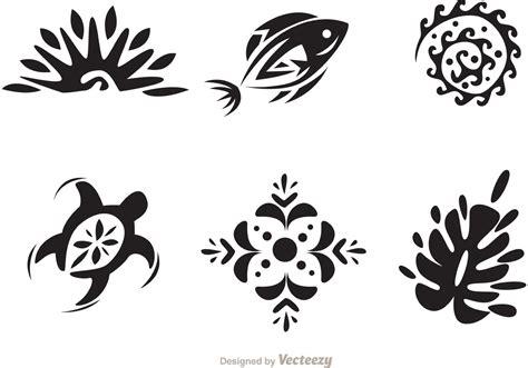 hawaii pattern vector hawaiian tribal pattern black and white