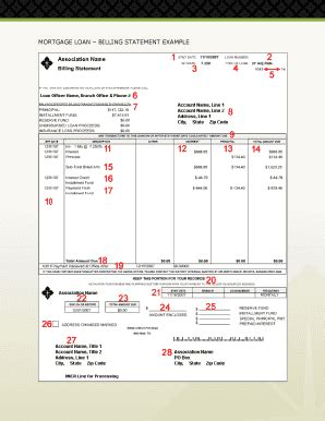 mortgage statement template mortgage statement exle fill printable