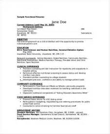 Clinical Dietitian Resume by Nutritionist Resume