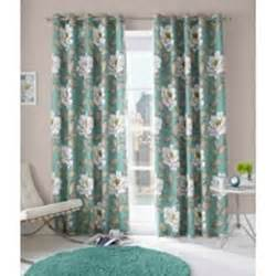 Bold Floral Curtains Beautiful Bold Floral Pattern Eyelet Lined Curtains Aqua 229 X 229cm Co Uk