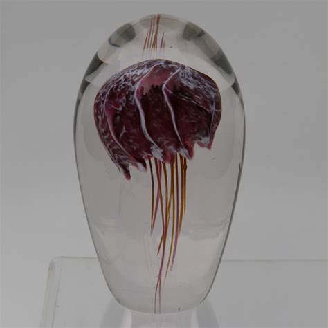 How To Make A Glass Paper Weight - robert burch glass glass jellyfish paperweight robert