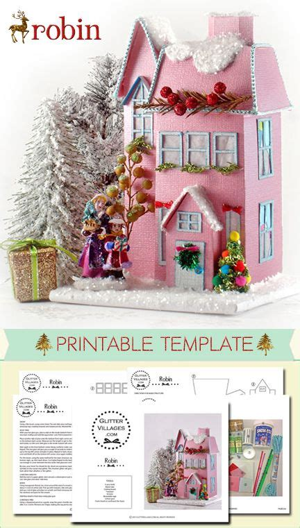 printable christmas village christmas village printable pattern diy with paper just