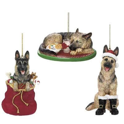 santa s best friend german shepherd christmas ornament