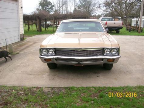 1970 chevy impala 2 door chevrolet impala fastback 1970 gold for sale