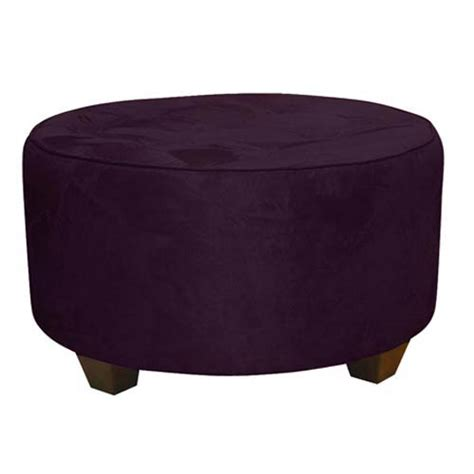 purple ottomans curves tufted round ottoman purple images