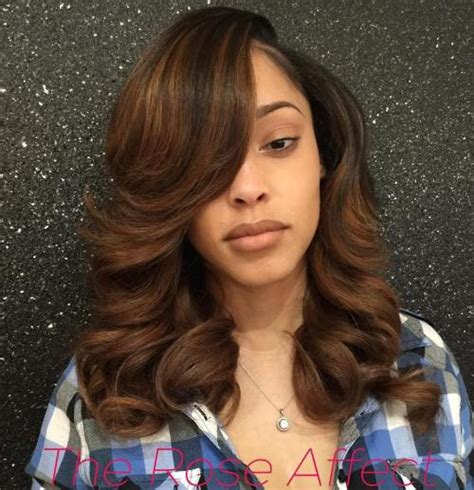 sew in styles with big curls and bangs sew hot 40 gorgeous sew in hairstyles