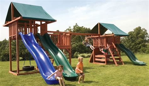 unique backyard play structures redwood swing sets with 10 unique play features modern