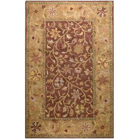 6x9 area rugs home depot bashian wilshire collection garland chocolate 5 ft 6 in