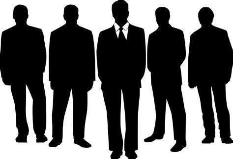 Silhouette of Business People,men vector   Free PSD,Vector