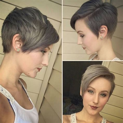 short pixie haircuts with asymmetrical bangs front and side view 25 cute balayage styles for short hair popular haircuts