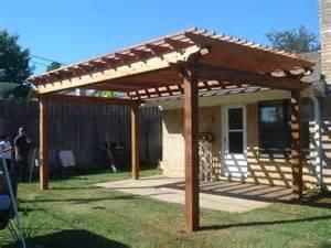 deck designs pergola roof patio wood dmblco