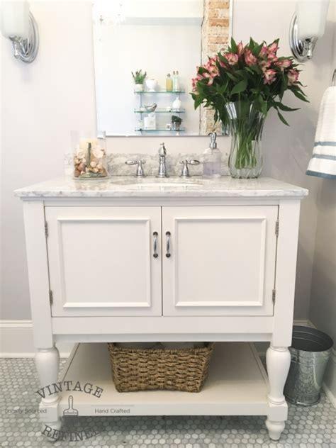 vintage refined bathroom makeover reveal