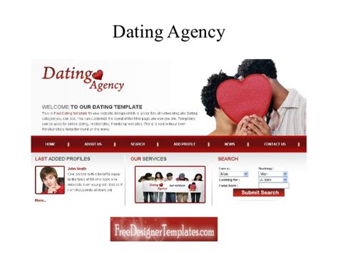 free dating website templates