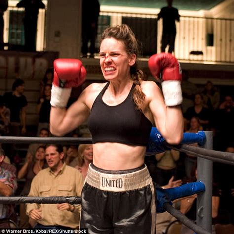 Hilary Swank Looks Great Until You Get To The by Hilary Swank 43 Shows Fit Tummy Daily Mail