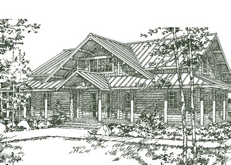 troy house log home plans