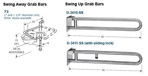 swing away grab bar swing up swing away grab bars