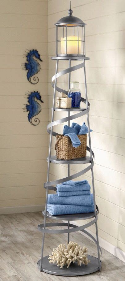 Nautical Bathroom Storage Nautical Lighthouse Bathroom Shelf Coastal Decor Pinterest Lighthouse Bathroom Lighthouse