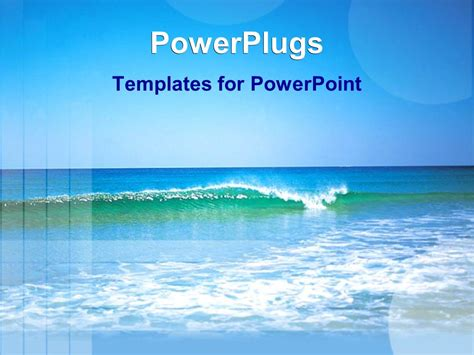 templates powerpoint sea powerpoint template sea waves on a beautiful sea with