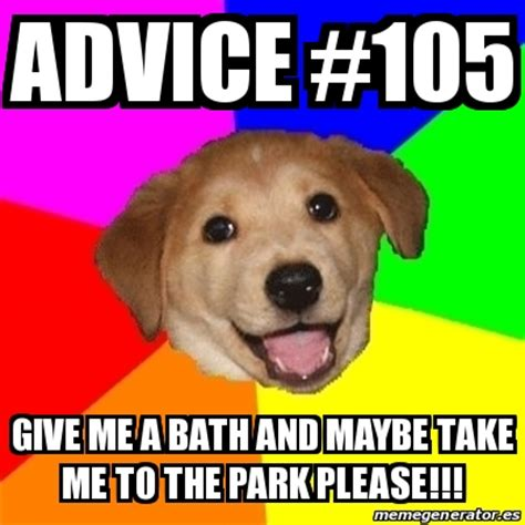 Advice Memes - meme advice dog advice 105 give me a bath and maybe