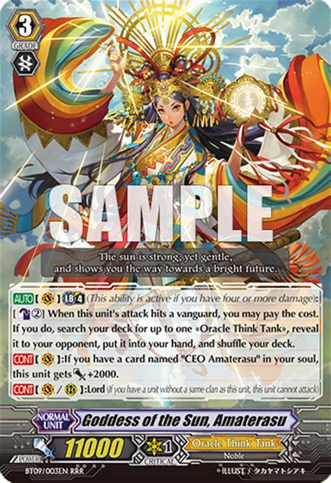 Vanguard Cardfight Oracle Think Thank Deck Eng trigger capital oracle think tank goddess of the sun amaterasu deck profile