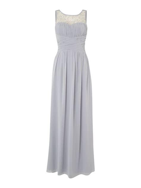 Dress Maxy Grey beaded top maxi dress in gray lyst