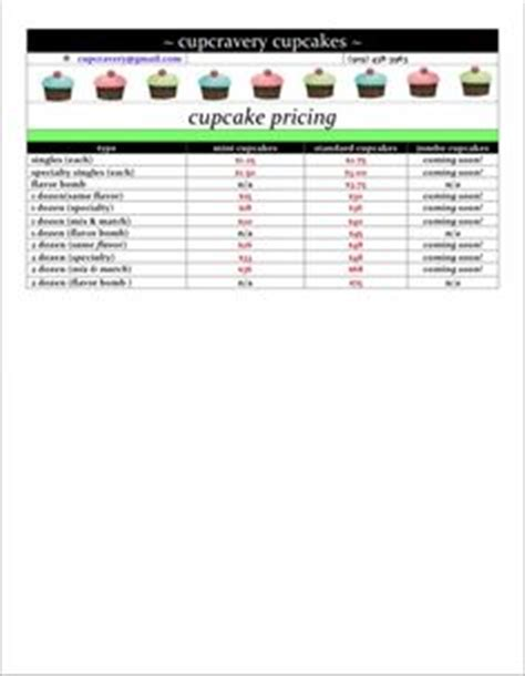 cupcake price list template 1000 images about hmmmm cake d on baby