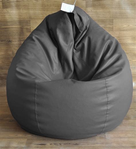 style homez grey xxl classic bean bag cover without beans
