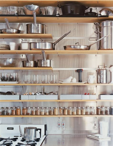 kitchen wall shelving tips for stylishly stocking that open kitchen shelving