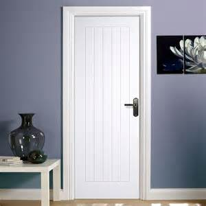 mexicano white primed door with vertical lining